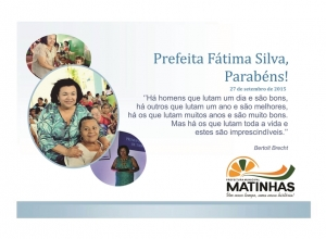 Prefeita Fátima Silva comemora aniversário